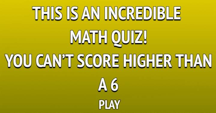 Incredible Math Quiz