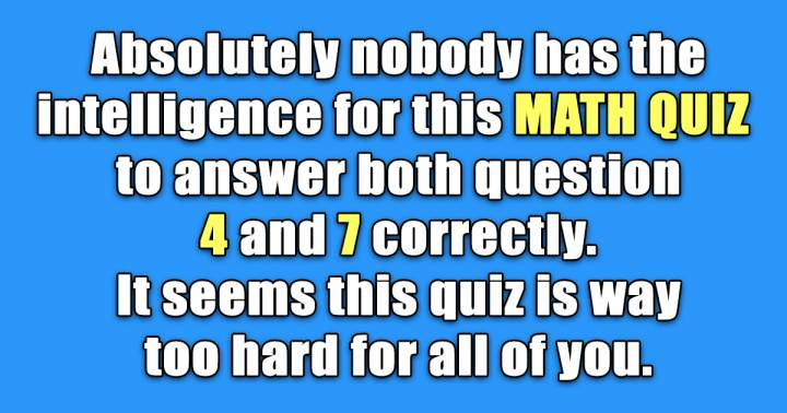 Test Your Math Knowledge